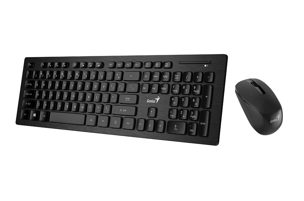 497b1bc1a17 Genius SlimStar 8008 Wireless Keyboard & Mouse Set - The Computer Shop